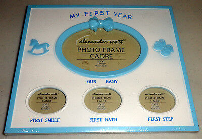 Baby Boys First Year Picture Frame Cute