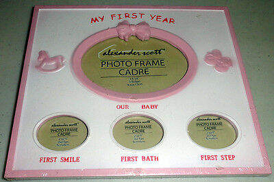 Baby Girl First Year Picture Frame CUTE!!
