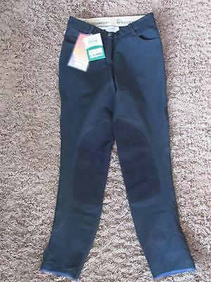 NEW Womens Vequi Comfort Black poly stretch equestrian thick Breeches 26 NWT