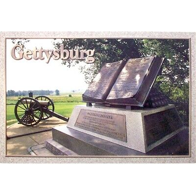 Gettysburg High Water Mark Monument & Cannon On Battlefield Postcard New