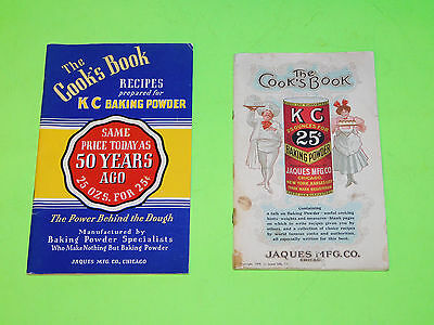 Antique Cook Book Lot The Cooks Book Kc Baking Powder 1908 & 1939 Illustrated