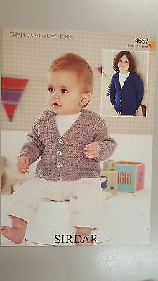 Sirdar Knitting Pattern #4657 Baby or Child's Cardigan to Knit in Snuggly DK Ply