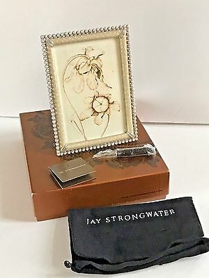 Jay Strongwater 4 X 6 Crystal Pearl Lorraine Frame New In Box