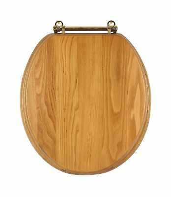Dalton 561241 Round Toilet Seat, Honey Oak Finish