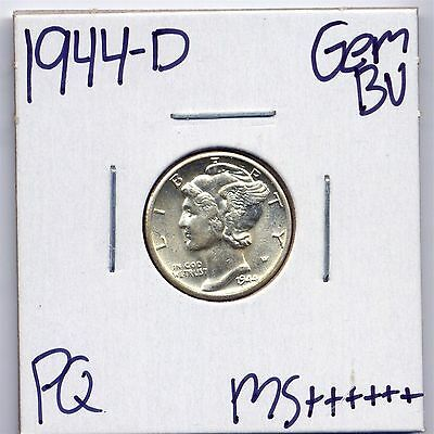 1944-D Mercury Silver Dime Uncirculated US Mint Gem PQ Coin BU Unc MS++++++
