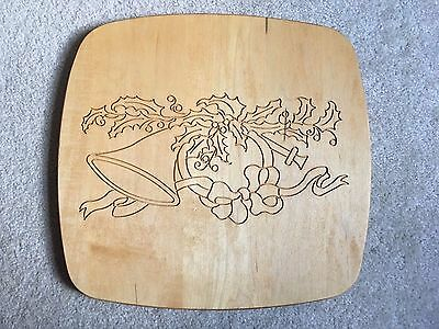 Longaberger 1993 Holiday Homecoming Hostess Basket Lid Christmas French Horn New