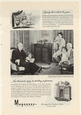 ORIGINAL VINTAGE MAG AD MAGNAVOX with 3 GENERATIONS OF  CECIL B. deMills FAMILY