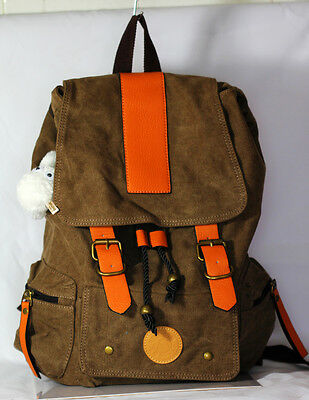 JAPAN Studio Ghibli My Neighbor Totoro Canvas Leather Backpack COLOR: Coffee