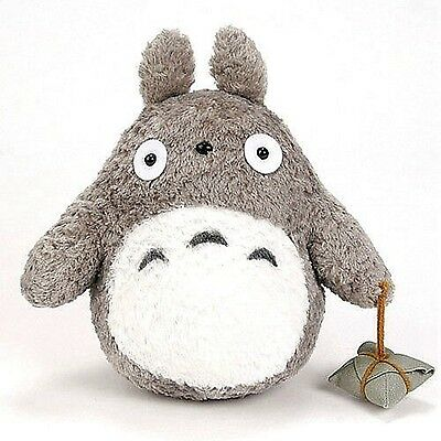 "TOTORO Stuffed Toy New 9"" Japanese Studio Ghibli Gray plush Doll"