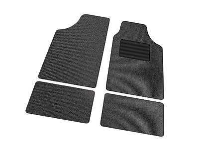 4 Piece Front Rear Black Car Mat Carpet Non-Slip Grip Universal Thread Protector
