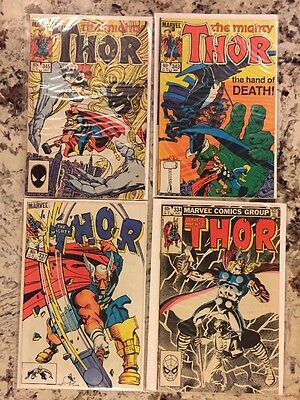 Marvel The Mighty Thor 334 337 343 345 VF Lot, 1st Appearance Of Beta Ray Bill!