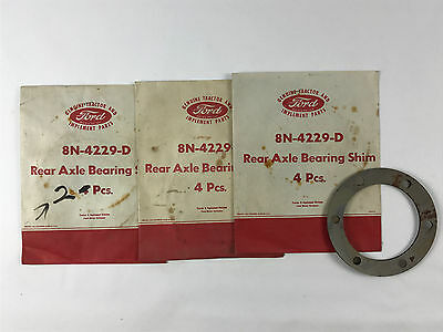 Ford 9N 2N 8N NAA Tractor AXLE SHAFT BEARING SHIM SET 8N4229D NOS