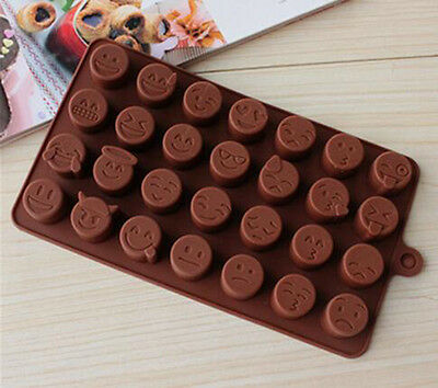 Emoji Expression Silicone Mold For Cake Chocolates Funny Candy Ice Baking Coffee