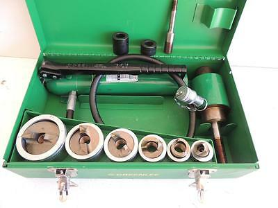 """Greenlee 7506 Slug Splitter Hydraulic Knockout Punch Set 1/2"""" To 2"""" Stainless"""