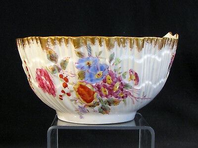 Antique HAMMERSLEY SHELL FORM BERRY FRUIT SERVING BOWL - DRESDEN SPRAY - 12668