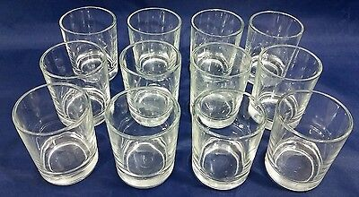 "Lot of 12 - Clear Glass Votive Candle Cup Holders (2-1/2"")"