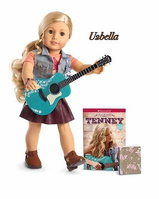 American Girl Tenney Grant Doll and Accessories Guitar & Notebook NEW