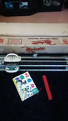 matador home knitting machine vintage including ribber atrachmet and manual
