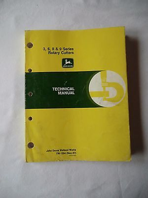 Technical Manual for John Deere 3,6,8 & 9 Series Rotary Cutters