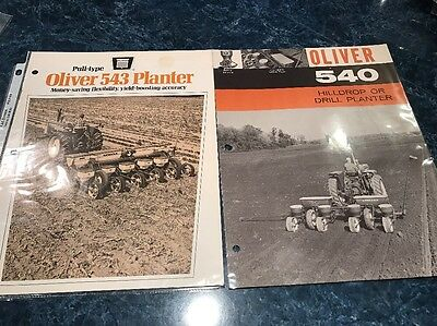Lot Of Two Oliver 543 And 540 Planter Salesman Pamphlets