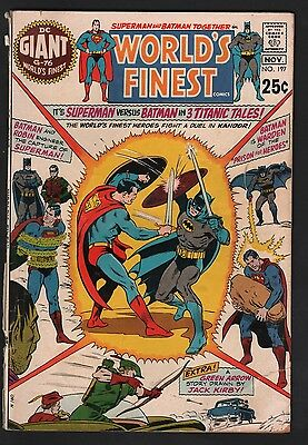 World's Finest #197 G- 1.8 Off White Pages