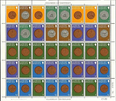 GUERNSEY Sc#173//199 SG#177a &177b 1980 Coins Booklets - Two Full Sheets MNH