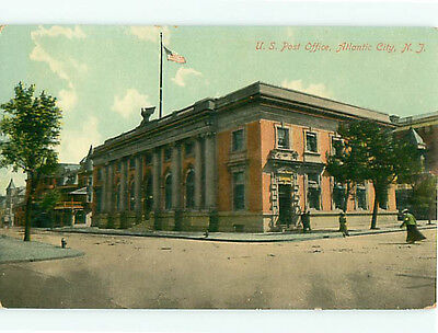 Atlantic City NJ U S Post Office Flag Government  Postcard # 5454