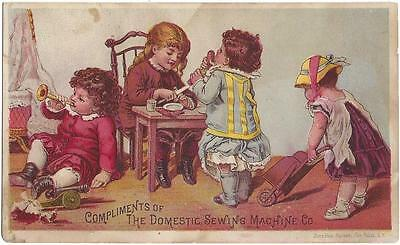 Domestic Sewing Machine Co. - Trade Card - Donaldson Bros. Lith, Five Points, NY