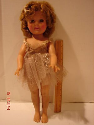 Vintage 17 Inch Ideal St-17 Shirley Temple Doll Ballerina Tutu Dress Smile Teeth