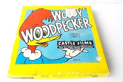 Woody Woodpecker Castle Films 8 mm Round Trip to Mars #523 in Original Box