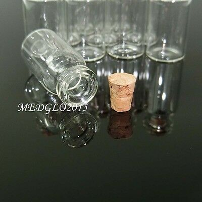 100pcs 2ml Small Tiny Empty Clear Glass Bottles Vials with Cork 16*35mm