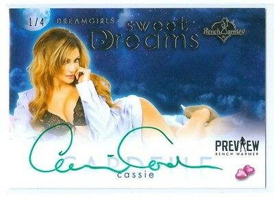 "Cassie Cardelle ""sweet Dreams Autograph 1/4"" Benchwarmer Dreamgirls Preview 2016"