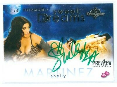 "Shelly Martinez ""sweet Dreams Autograph 1/4"" Benchwarmer Dreamgirls Preview 2016"