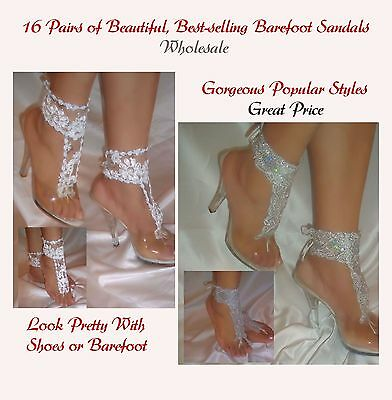 Women's Fashion 16 Pairs of Beautiful Best-selling Barefoot Sandals Wholesale