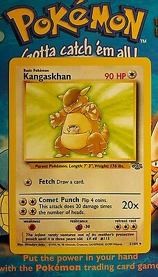 Pokemon Jungle Kangaskhan 21/64 Rare Non Holo Card In Nm+ Condition See Pictures