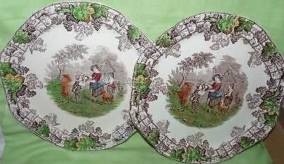 Copeland Spode,Byron. Two large Four Section Plates.England