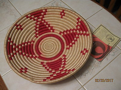 """Rwanda Path to Peace 11""""  Basket 94113 ~ With Certificate of Authenticity ~ NWT"""