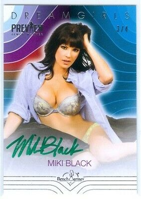 "Miki Black ""autograph Card #3/4"" Benchwarmer Dreamgirls Preview 2016"