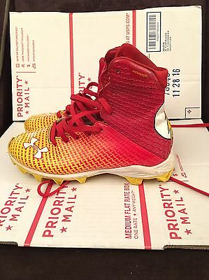 RARE Boy's size 3.5Y Under Armour DC COMICS Alter Ego THE FLASH Football CLEATS