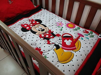 Baby Quilt Disney Minnies Garden with matching pillow case