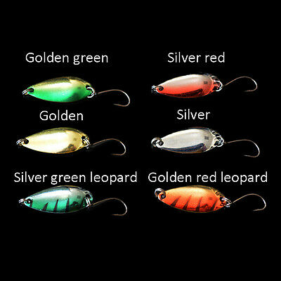 5pcs/lot 3g 58mm Spinner Spoon Fishing Lure Metal Lures Colorful Hard Baits HU
