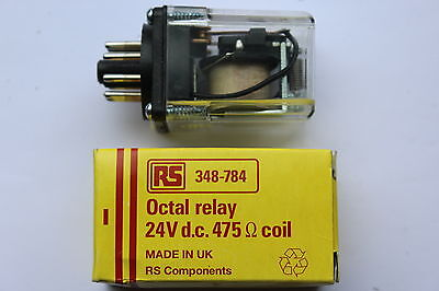 RS 348-784 Octal Socket Moint Non :Latching Relay 24v DC 475R Coil 10A 8 pin