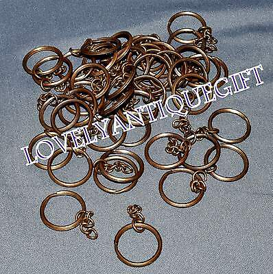 LOT 25 PICS KEYCHAIN CARABINER(Solid Brass) Key ring 5 C/m S1