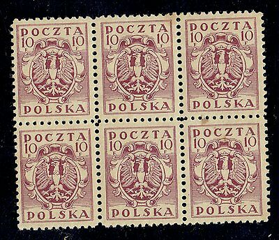 Poland   27. I.  1919     Strip  Of  6  Stamps    ,,nh ''
