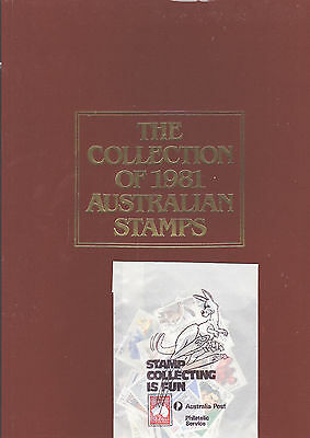 AUSTRALIA POST 1981 ANNUAL STAMP COLLECTION ALBUM & Stamps from bulk estate buy