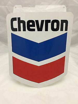 ORIGINAL CHEVRON OIL CORP DECAL 1960s GAS STATION STICKER SIGN 10x8