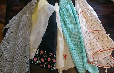 Vintage Aprons - Lot of 6 - Retro Half Aprons - Kitchen Farmgirl Style Fashion