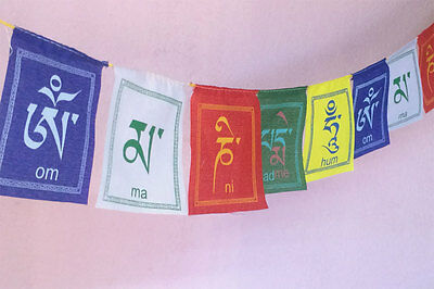 OM Ma Ni Padme Hum Prayer Flag (KLPF06)