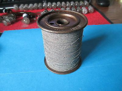 Vintage Spool Of Hudson Wire Company Silk Enameled Wire. Connecticut U.s.a.
