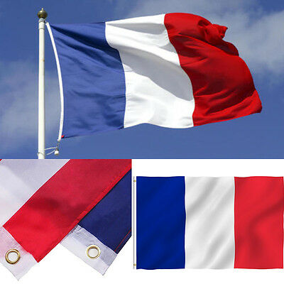 Lot France Flag French Super-Poly 3'x5' Banner Brass Grommets Wholesale